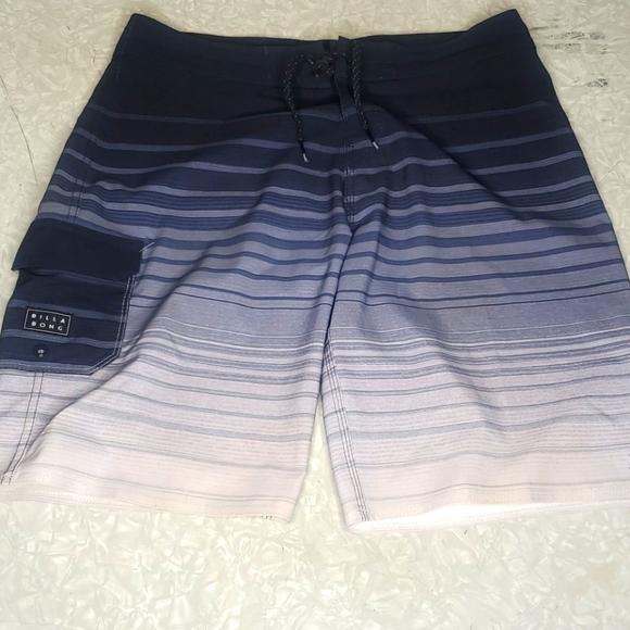 Billabong Blue & Gray Board Shorts / Swim Trunks